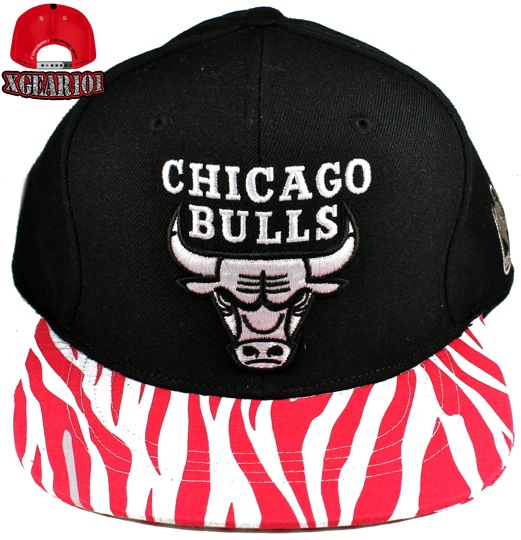 Chicago Bulls Custom Brim Strapback Hat : Custom Brims