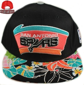 San Antonio Spurs Custom Brim Strapback Hats : Custom Brims