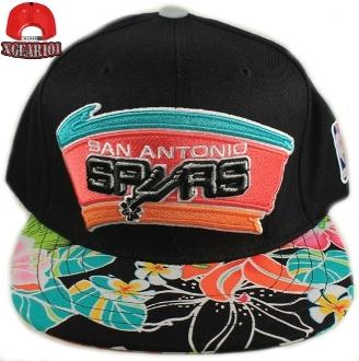 San Antonio Spurs Custom Brim Strapback Hats : Custom Brims
