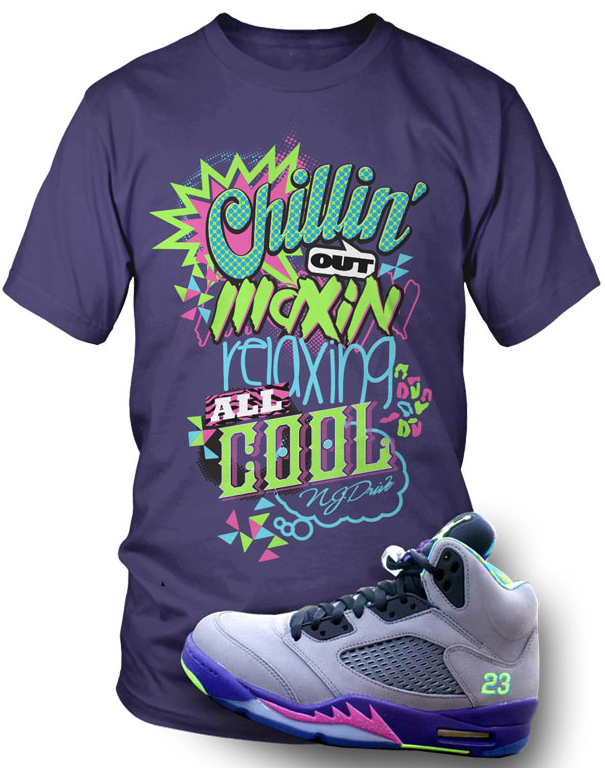 "57675fd9f4e Jordan Retro 5 ""Fresh Prince of Bel Air"" shoes : T-Shirt to Match ..."