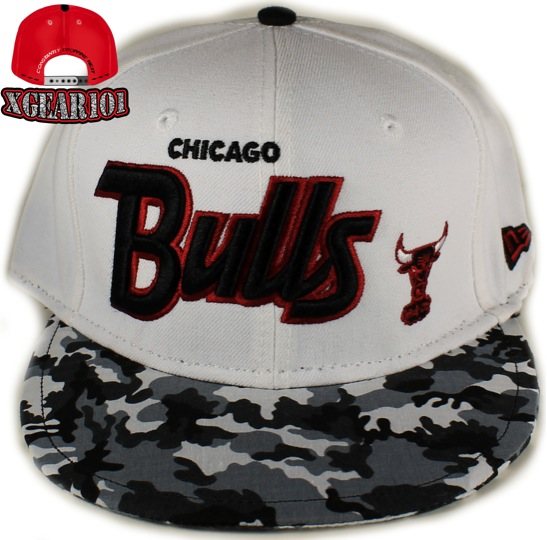 Chicago Bulls Custom Brim Snapback : Fighter Jet Foamposites