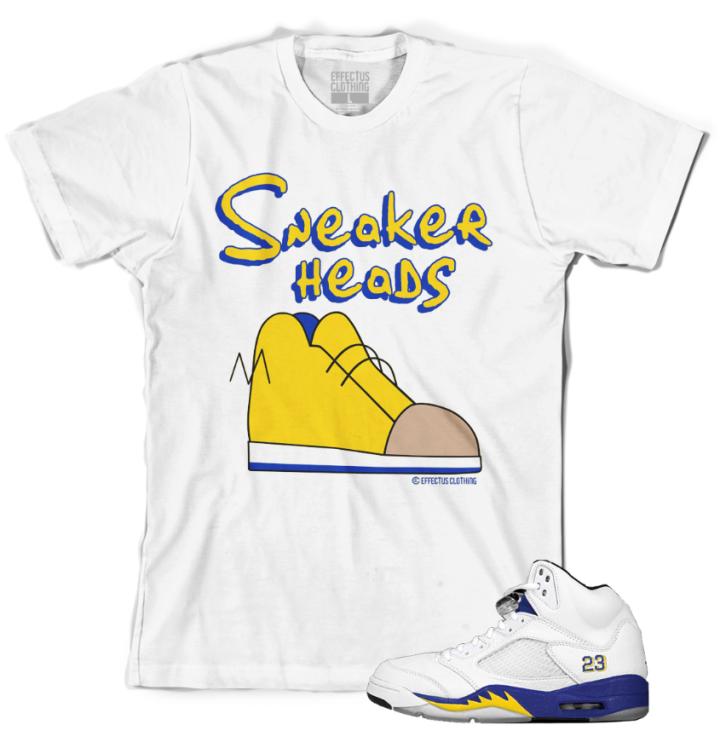 Jordan Retro 5 Laney Sneaker Shirts to Match Shoes
