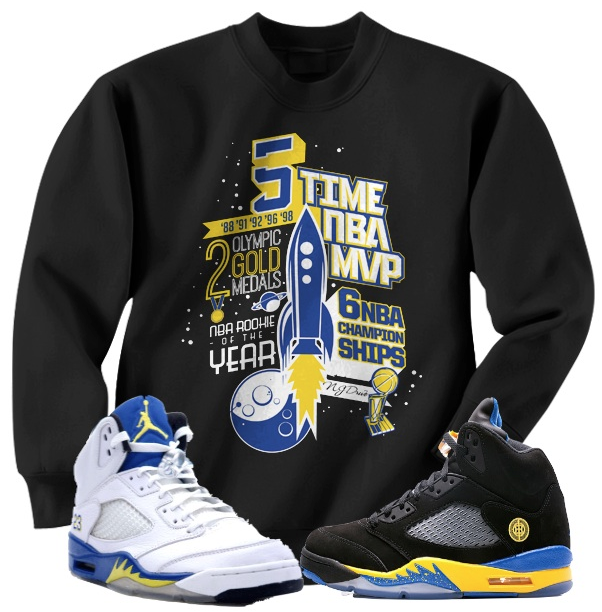 Jordan Shirts and Crewnecks for the Jordan Retro 5 Laney Shoes
