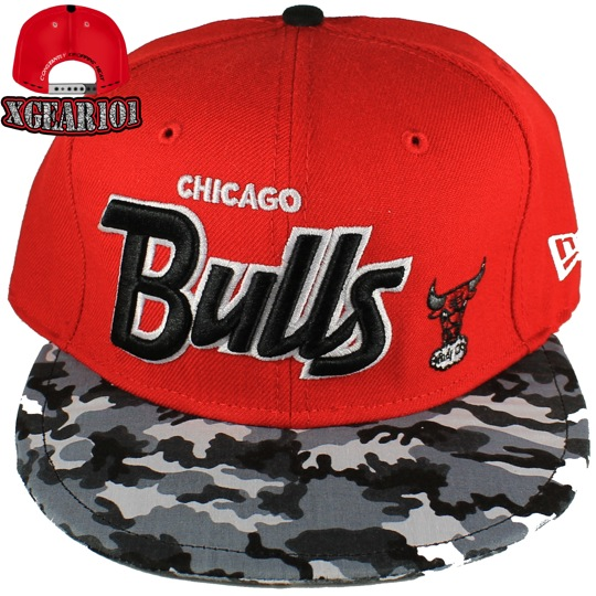 Chicago Bulls Snapback Hat for the Fighter Jet Foamposite Shoes