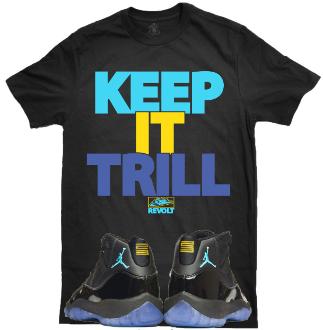 Jordan Retro 11 Gamma Blue Sneaker T-Shirt