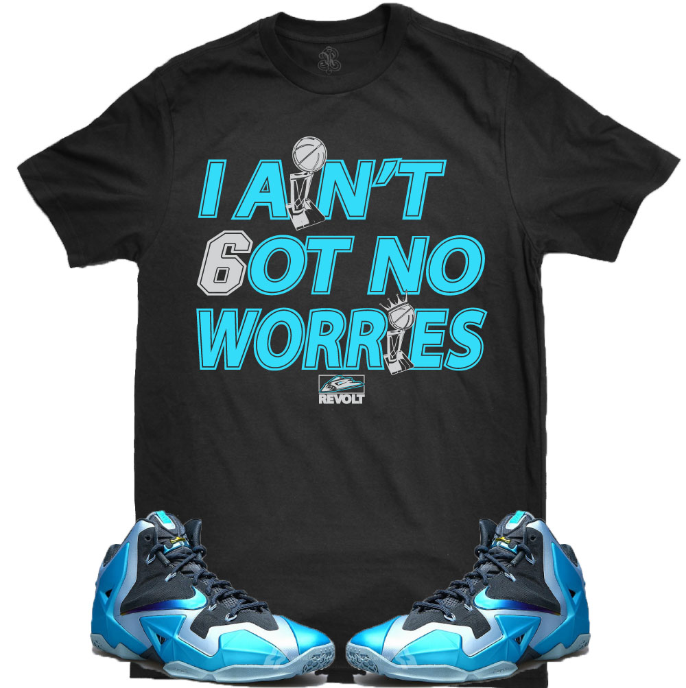 343956f58f75 ... Lebron Sneaker T-Shirts for the Lebron 11 Gamma Blue Shoes – X Gear 101 Untuckt  – Signature Tee Matches Air Jordan 12 ...
