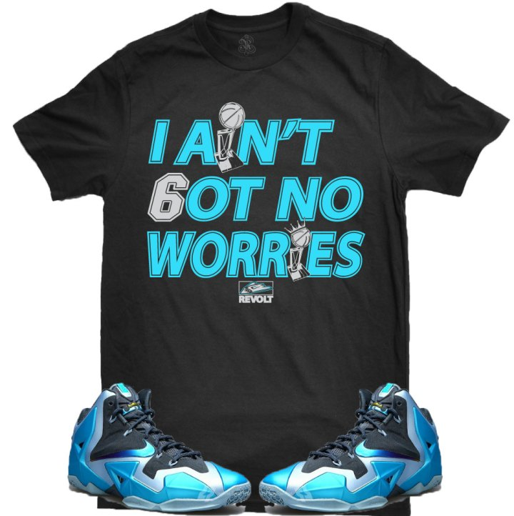 ebb46f673850d9 Lebron Sneaker T-Shirts for the Lebron 11 Gamma Blue Shoes – X Gear ...