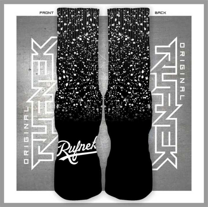 Jordan Retro 5 Oreo Custom Socks by Original Rufnek Clothing