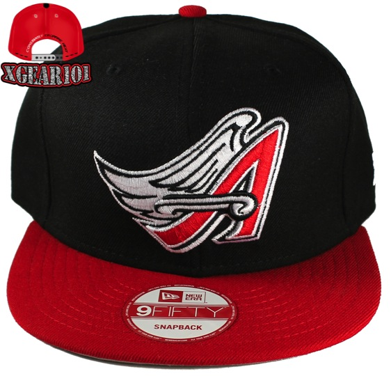 2d757f548de Anaheim Angels Snapback Hat to match the Jordan Retro 1 Banned Shoes ...