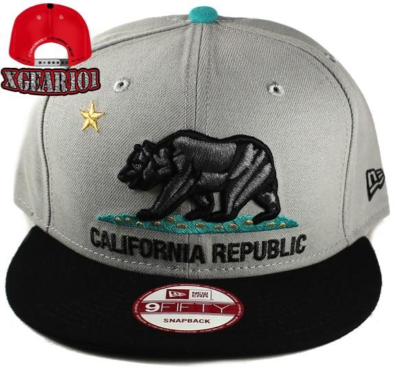 California Republic Snapback Hat for the Jordan Retro 11 Gamma Blue shoes