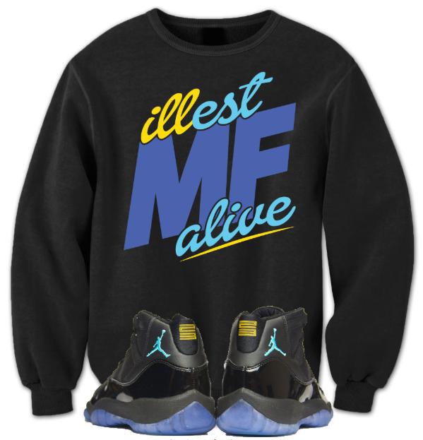 Gamma Blue Crewneck : Jordan 11 Gamma Blue Sneaker Tees