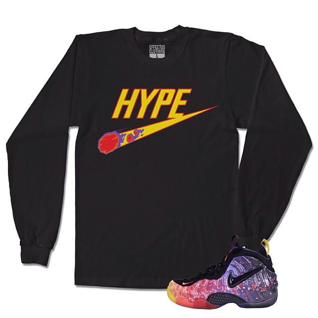 Crewneck to match with the Asteroid Foamposite Shoes