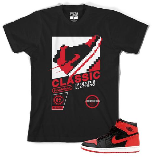 Jordan Retro 1 Banned Shoes : T-Shirt to Match