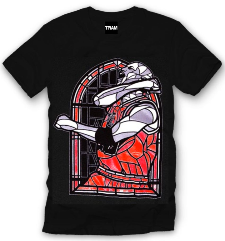 Jordan Sneaker Tee Shirt to match the Jordan Retro 1 HIGH OG Bred Shoes