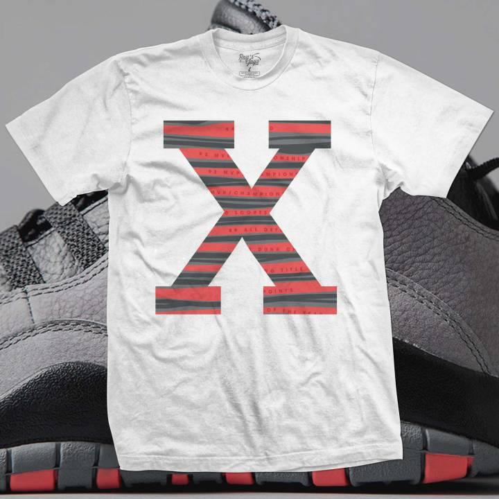 Jordan Retro Infared 10's Sneaker Tee To Match!