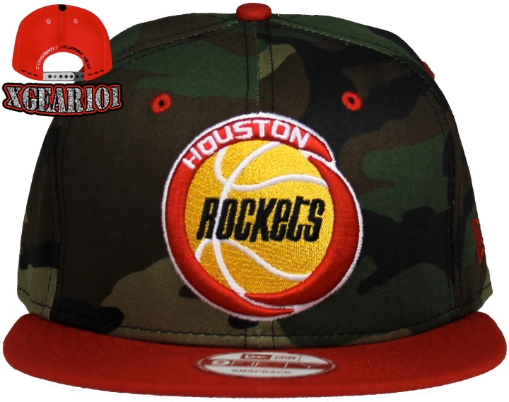 Houston Rockets New Era Camo Snapback Hat