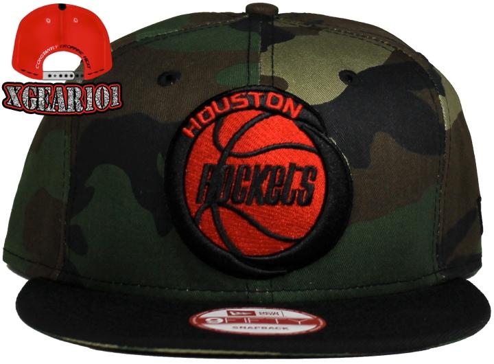 Houston Rockets Custom New Era Camo Snapback Hat