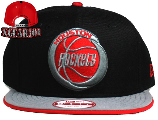 Houston Rockets Snapback Hat for the Jordan Retro 4 Bred Shoes