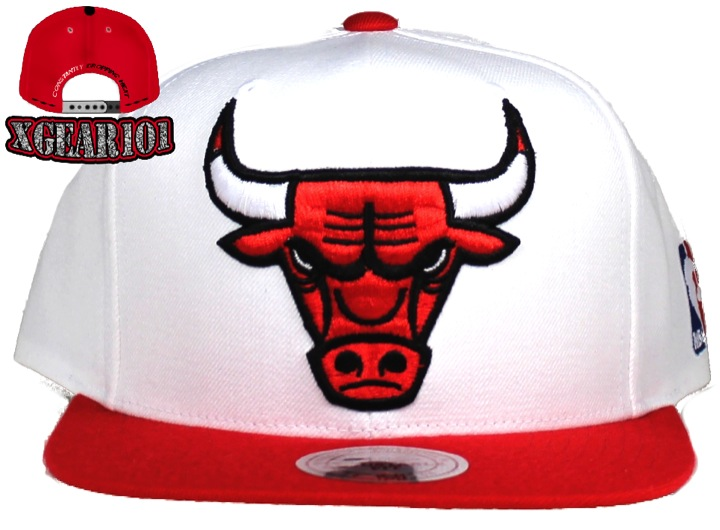 Chicago Bulls Mitchell and Ness Retro 5 Fire Red Snapback