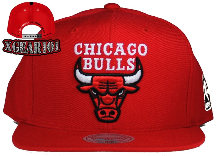 Red OG LOGO Chicago Bulls Snapback
