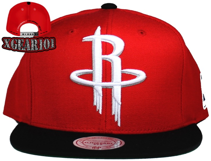 Houston Rockets Mitchell & Ness 2Tone XL Logo Snapback Hat