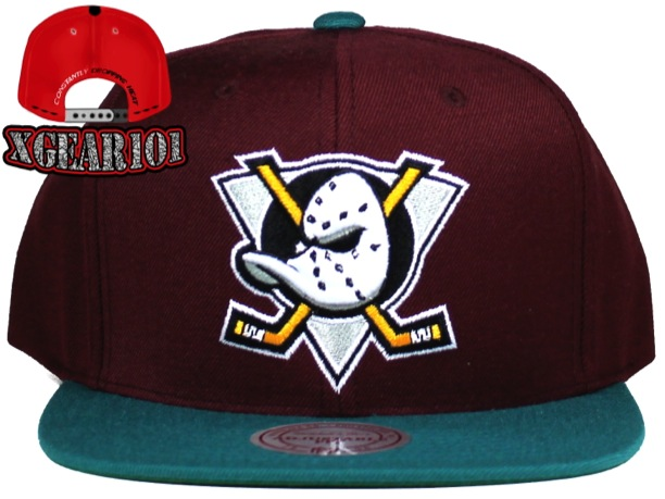 Mighty Ducks 2Tone Logo Mitchell and Ness Snapback Hat