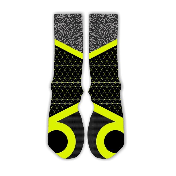 Custom Socks for the Jordan 6 Rings Venom