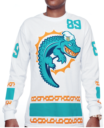 Lebron 10 Miami Dolphins Sneaker Long Sleeve T-Shirt