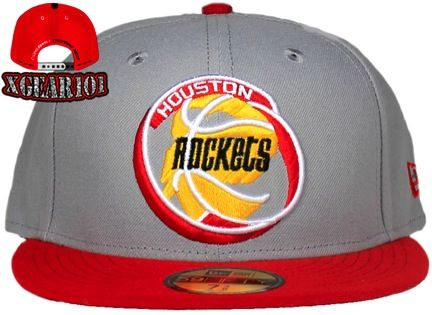 New Era Houston Rockets Fitted 2Tone Grey Hat