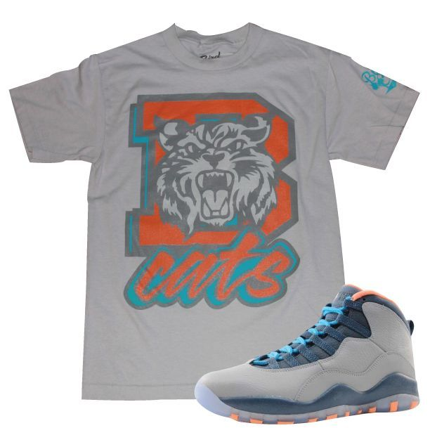 Bird Club Clothing, Jordan Retro 10 Bobcats Sneaker Tee
