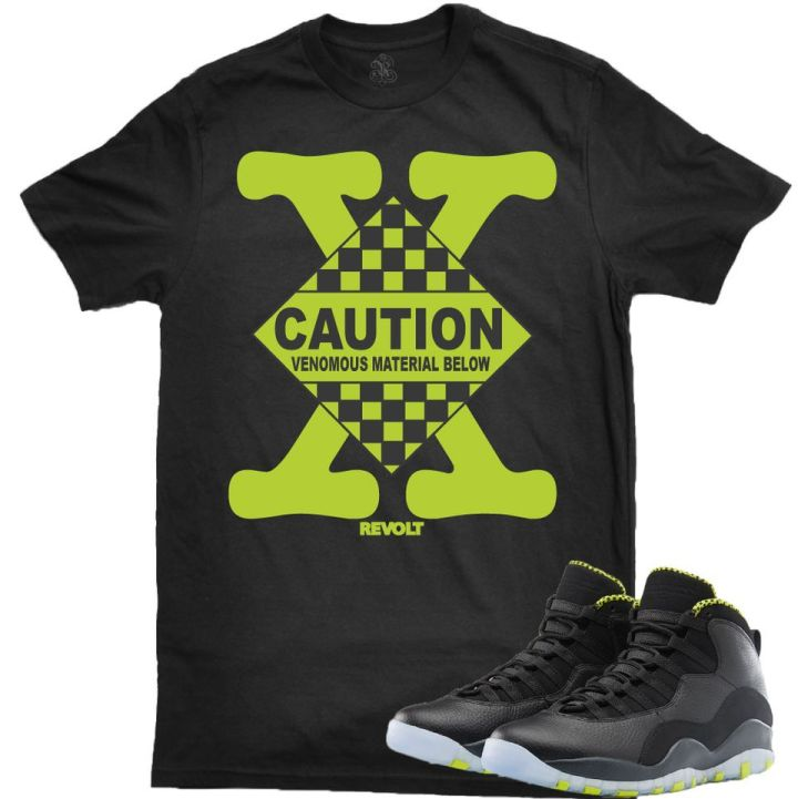 Revolt Apparel Sneaker Tee to match your Jordan Retro 10 Venom Shoes