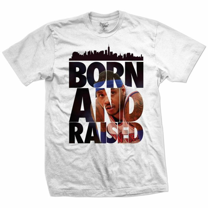 Rays Jays Carmelo and Born and Raised Sneaker Tees