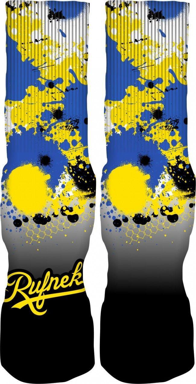 Original Rufnek Custom Socks to match your Jordan Retro 5 Fresh Prince Shoes