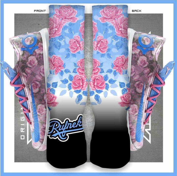 Kevin Durant KD 6 Aunt Pearl, Original Rufnek Custom Socks