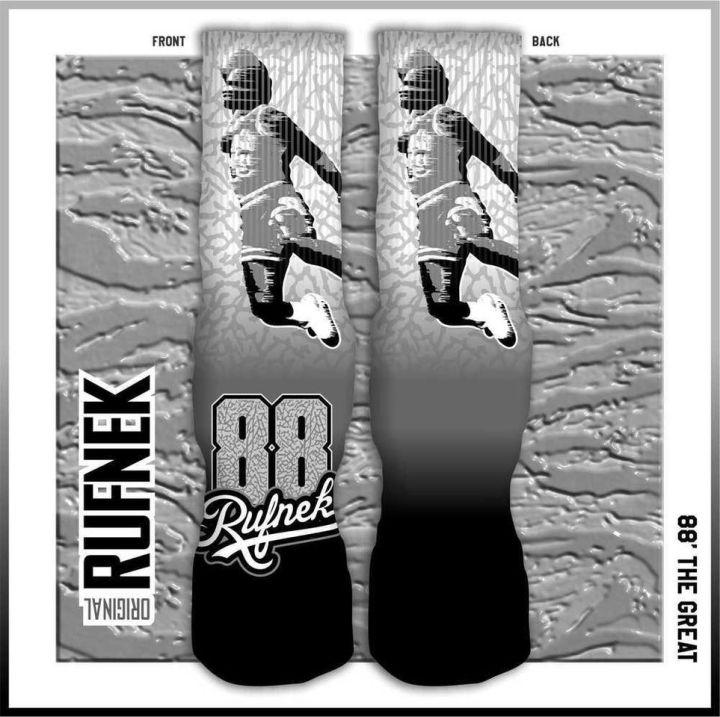 Original Rufnek Clothing Custom Socks to match The Jordan Retro 3 5Lab 3M Shoes