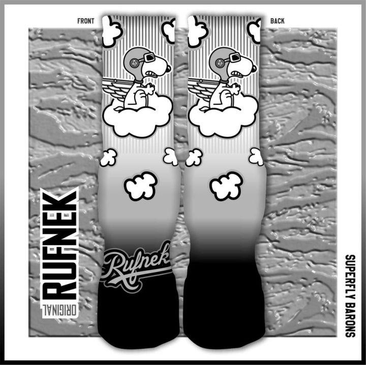 Original Rufnek Socks to match The Jordan Retro 9 Barons Shoes