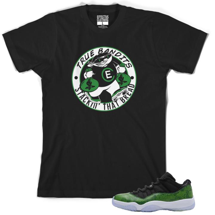 Effectus Clothing Jordan Retro 11 Low Green Snake Skin T-Shirt