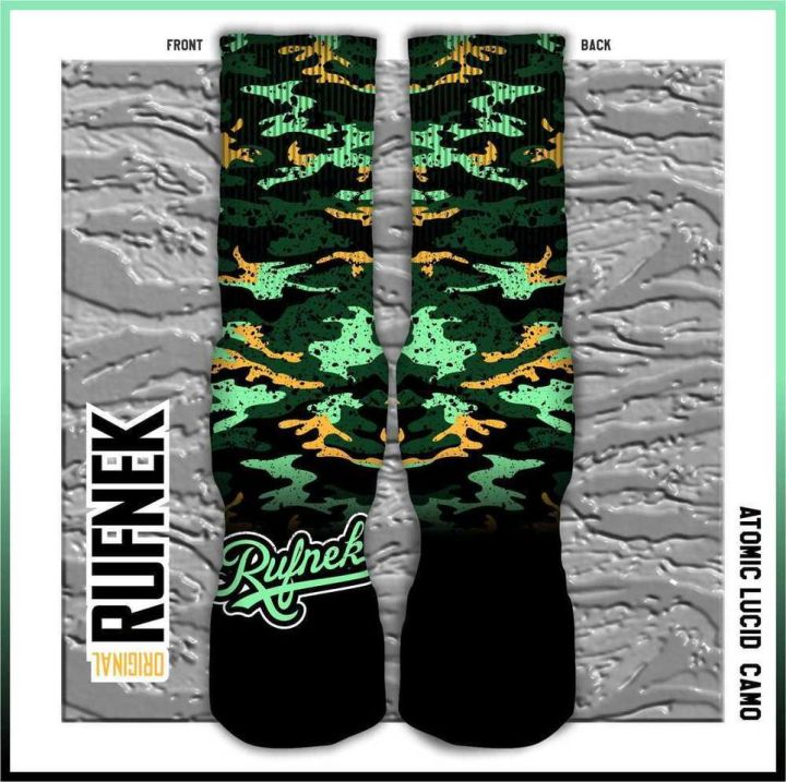 Original Rufnek Clothing Custom Socks to match The KD 6 Easter Shoes