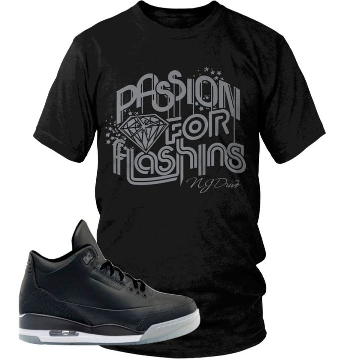NJ DRIVE CLOTHING Jordan Retro 3 5LAB3 Sneaker Tee