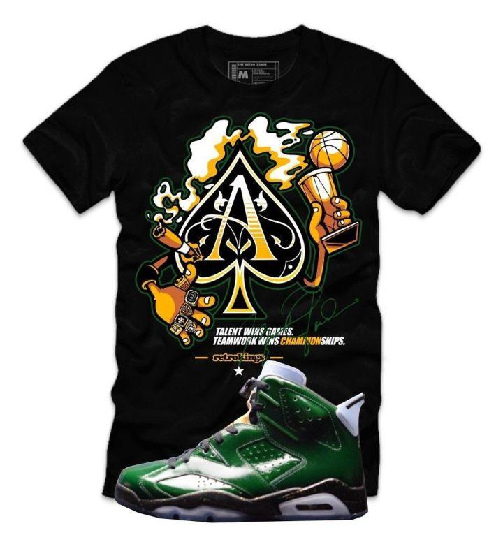 Retro Kings Clothing Custom Sneaker Tee to match Jordan Retro 6 Champagne Shoes