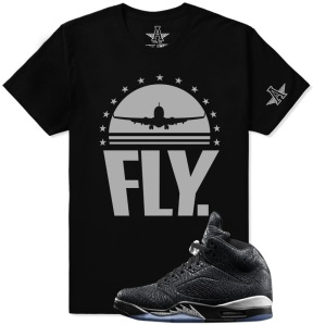Black Metallic 3LAB5 Rare Air Clothing Shirt