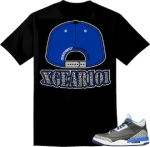 Jordan Retro 3 Sport Blue Sneaker Matching Shirts