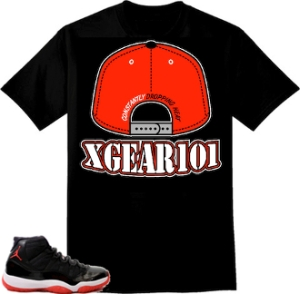 Jordan Retro 11 Bred Sneaker Matching Shirts