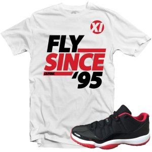 Bred Low 11s Sneaker Tee Shirts