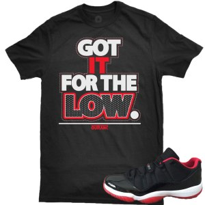 Bred Low 11s Tee Shirt