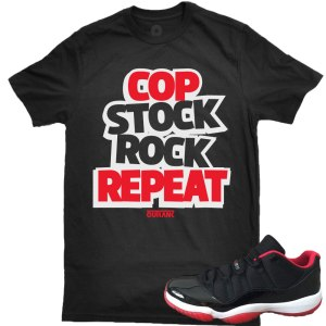 Bred Low 11s Tees