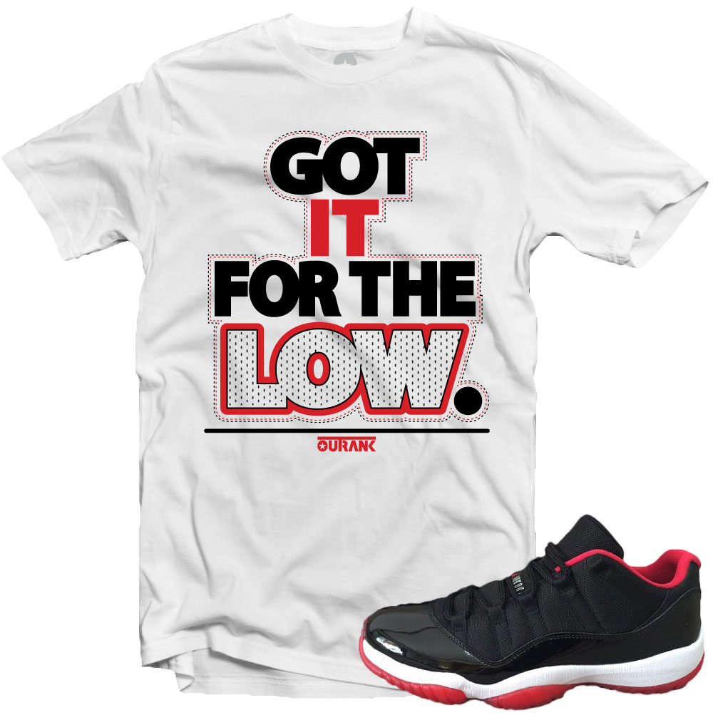 425613ea1905 Jordan 11 Low Bred Sneaker Match Tees – X Gear 101 Blog   Sneaker ...