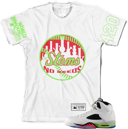 42a39192e5fd Jordan 5s Poison Shirts pOISON 5s sneaker tees Space Jam 5s Sneaker Tees