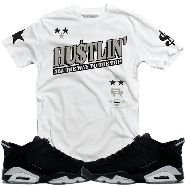 ba0ee9757437 Jordan Retro 6 Low Chrome Black Metallic Sneaker Shirts – X Gear 101 ...