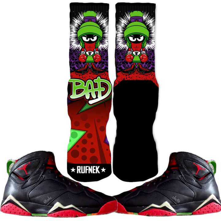 Jordan Martian 7s Custom Socks Sneaker